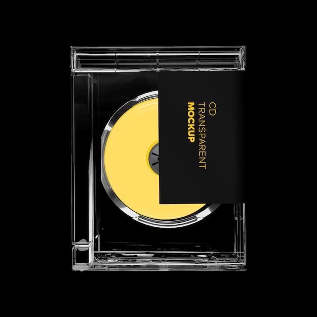 Cd чехол прямоугольник макет Premium Psd