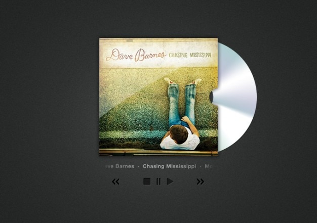 Cd cover art and player Free Psd