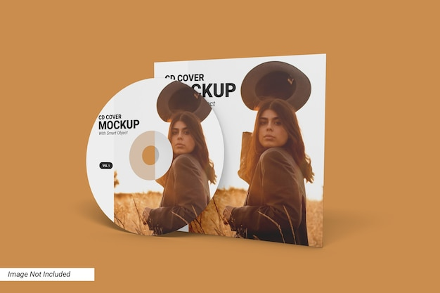 Мокап обложки cd Premium Psd