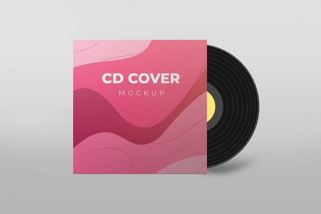 Макет обложки cd Premium Psd