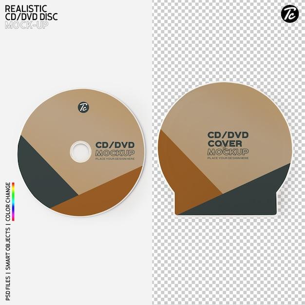 Изолированный дизайн макета крышки cd диска и коробки cd Premium Psd
