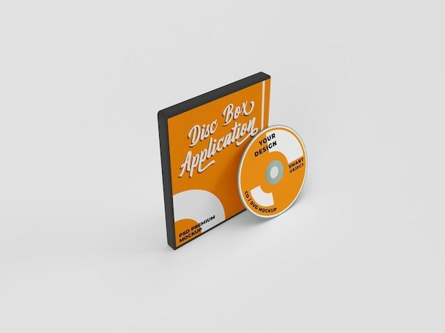 Cd dvd и обложка диска реалистичный макет Premium Psd