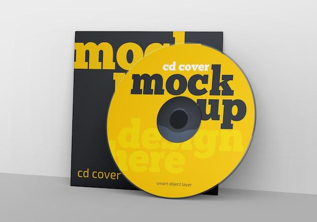 Cd / dvd cover mockup Premium Psd