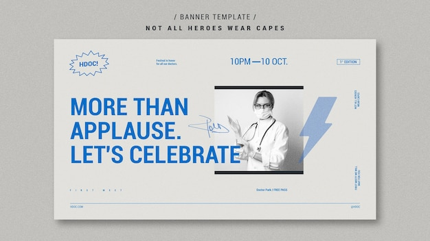 Celebrating doctors banner style Free Psd