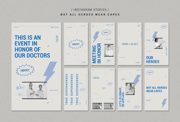 Празднование истории врачей инстаграм Бесплатные Psd