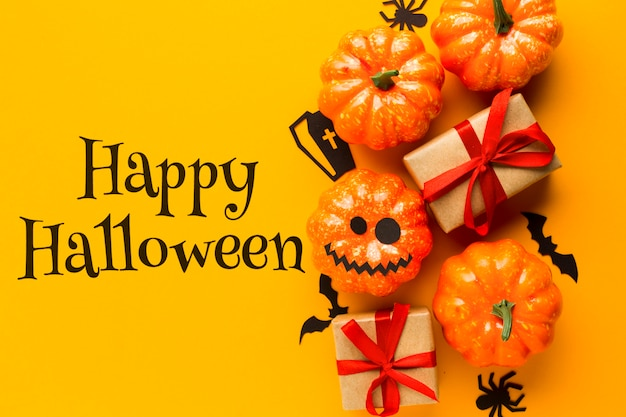 Celebration of halloween day trick or treat Free Psd