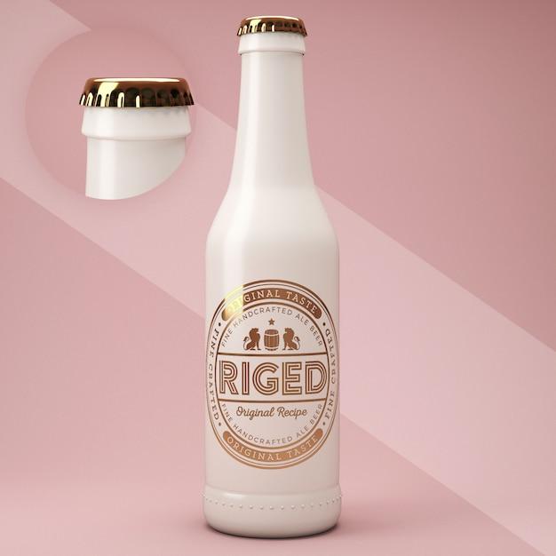 Ceramic bottle psd mockup Free Psd