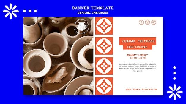 세라믹 창조물 광고 배너 템플릿 프리미엄 PSD 파일