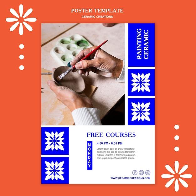 세라믹 창작물 광고 템플릿 포스터 무료 PSD 파일