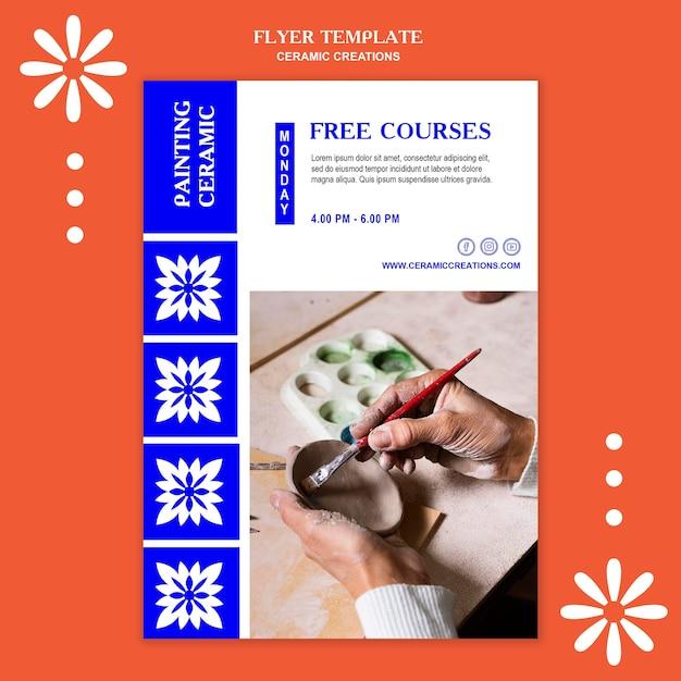 세라믹 창작물 템플릿 포스터 무료 PSD 파일