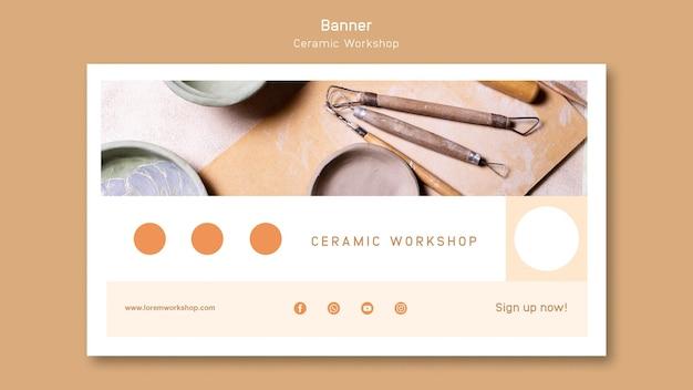 Ceramic workshop banner Free Psd