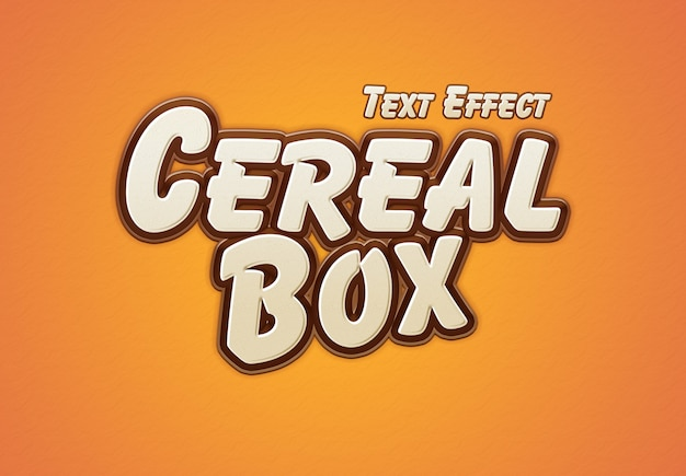 Cereal box text effect Premium Psd