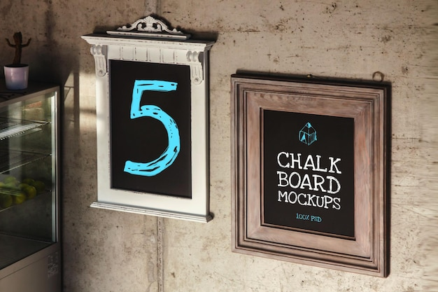 Chalkboard mockup Premium Psd