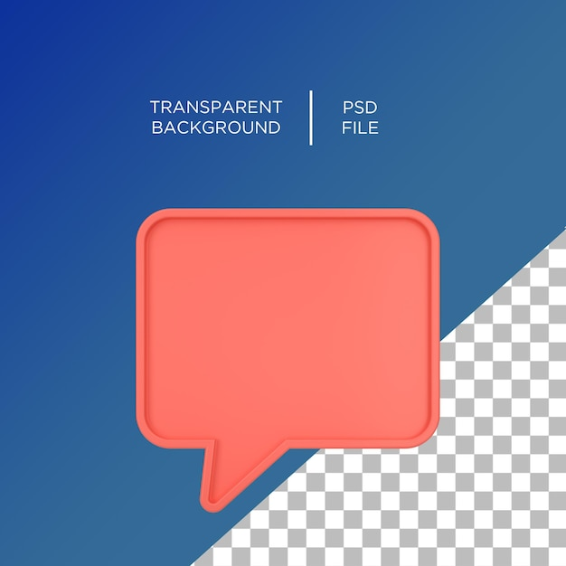 チャットテキストアイコン3d Premium Psd
