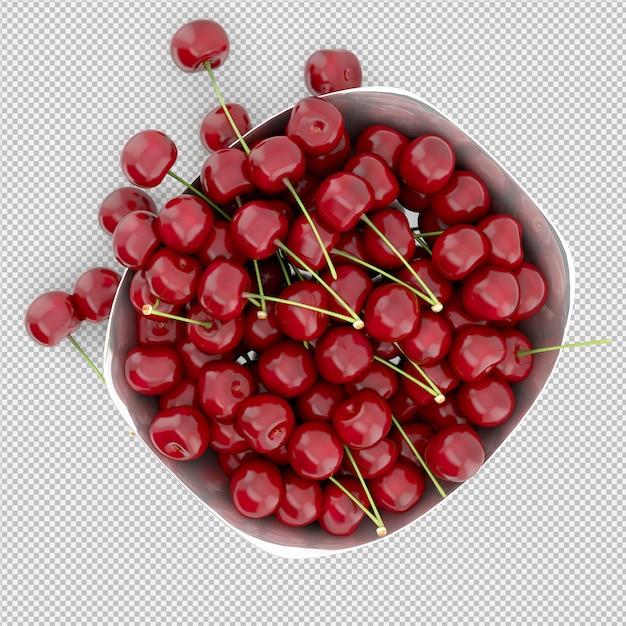 Cherries 3d render Premium Psd