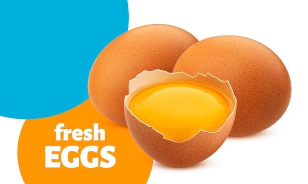 Chicken eggs isolated Premium Psd