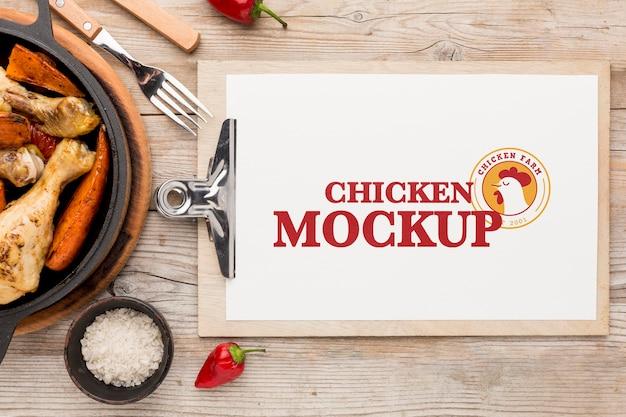 치킨 식사 모의 모형 무료 PSD 파일