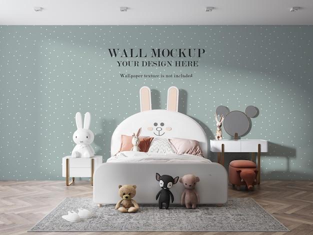 Пустая стена детской комнаты Premium Psd