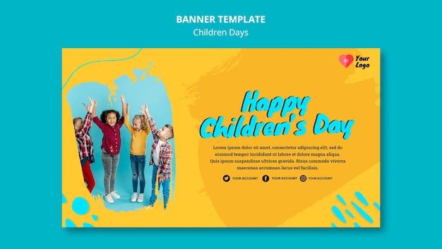 Modello di banner di giorno dei bambini Psd Gratuite