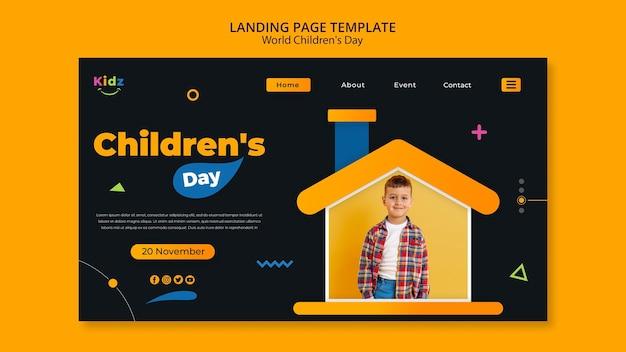 Modello di pagina di destinazione per il giorno dei bambini Psd Gratuite