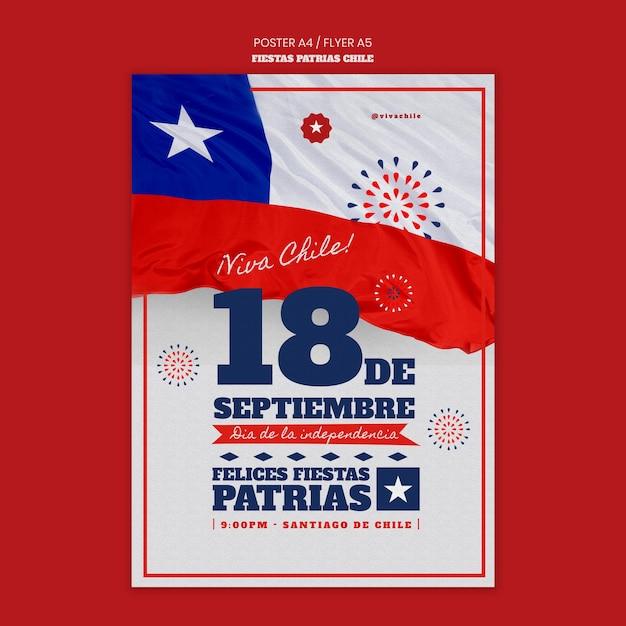 Manifesto della giornata internazionale del cile Psd Gratuite