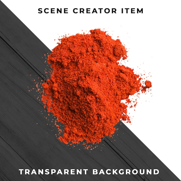 Chili powder isolated with clipping path. Premium Psd