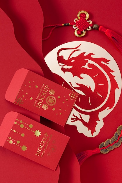 Assortimento isometrico del nuovo anno cinese Psd Gratuite
