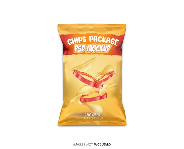 Chips package mockup Premium Psd