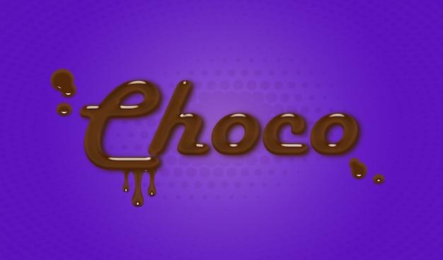 Choco-text-effect-psd Premium Psd