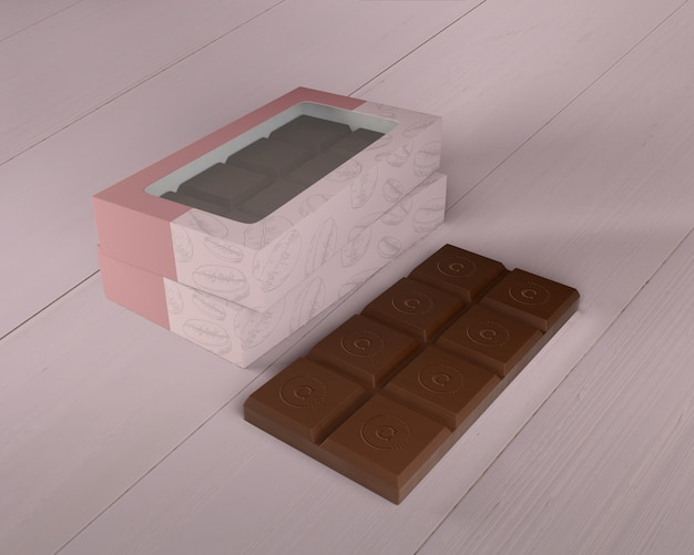 Chocolate box design mock-up Free Psd