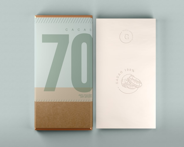 Chocolate Box And Wrapping Design Mock Up Free Psd File