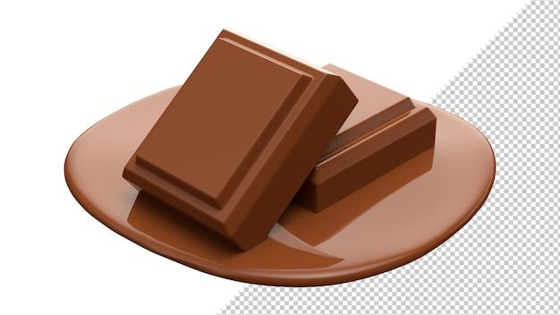 Шоколад какао 3d реалистичный рендеринг изолировать Premium Psd