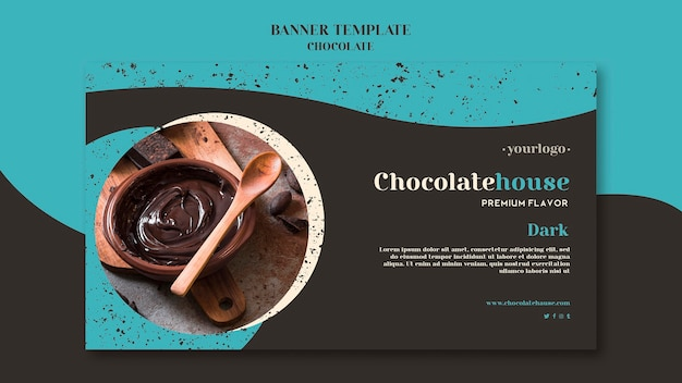 チョコレートハウスバナーテンプレート 無料 Psd