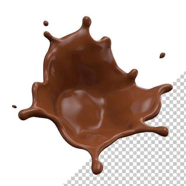 Шоколадное молоко всплеск 3d реалистичный рендеринг Premium Psd