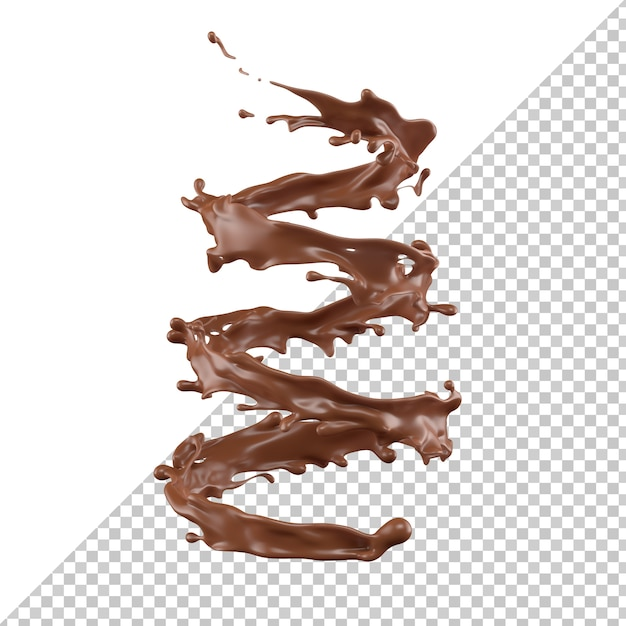 Chocolate milk splash 3d realistic Premium Psd