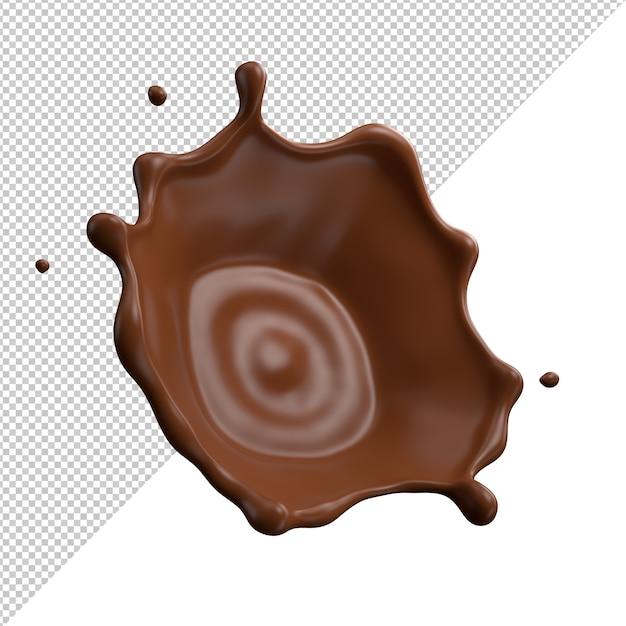 Chocolate milk splash 3d realistic Premium Psd
