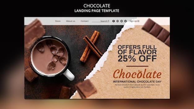Шаблон целевой страницы шоколадного магазина Бесплатные Psd