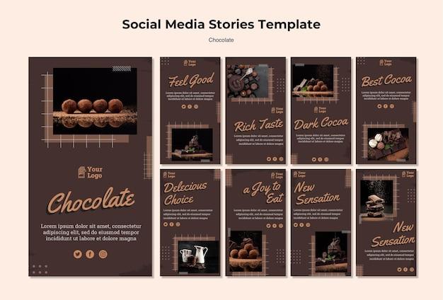 Modello di storie instagram negozio di cioccolato Psd Gratuite