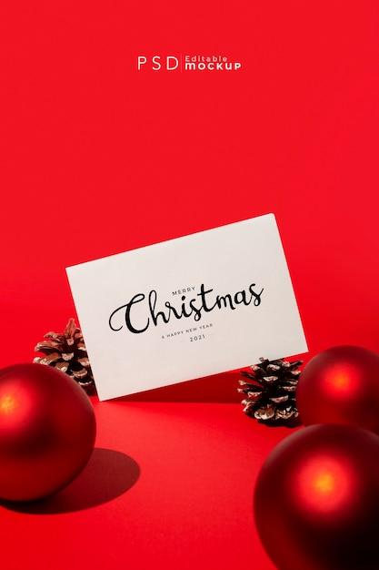 레드에 하드 조명 크리스마스 배경 무료 PSD 파일