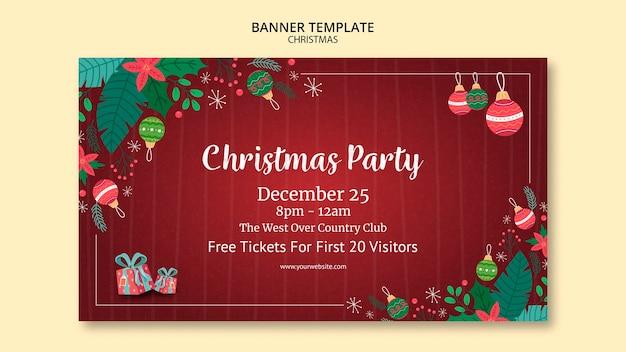 Рождественский баннер тема Бесплатные Psd