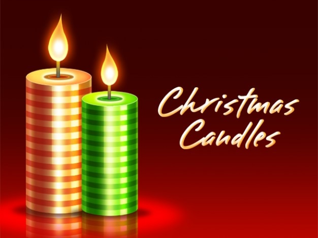 christmas candles psd download Free Psd
