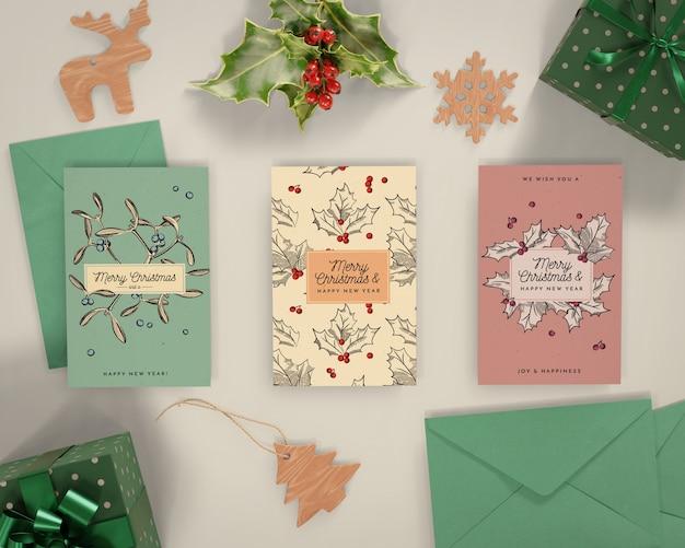 Christmas celebration with card Free Psd