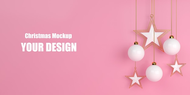 Christmas commercial mockup shopping sale concept Premium Psd