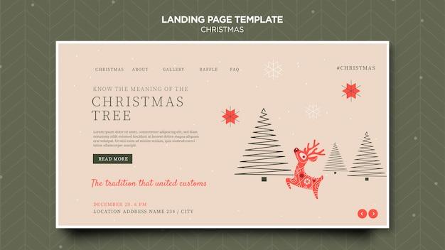 Шаблон целевой страницы рождественской концепции Premium Psd