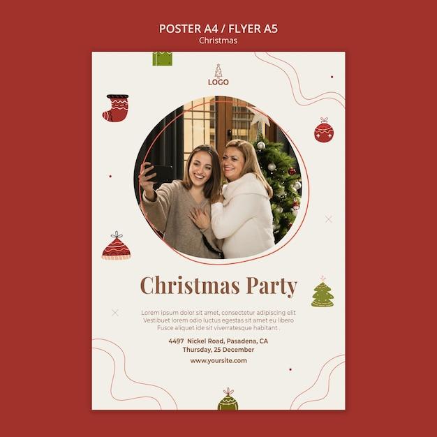 クリスマスコンセプトポスターテンプレート 無料 Psd