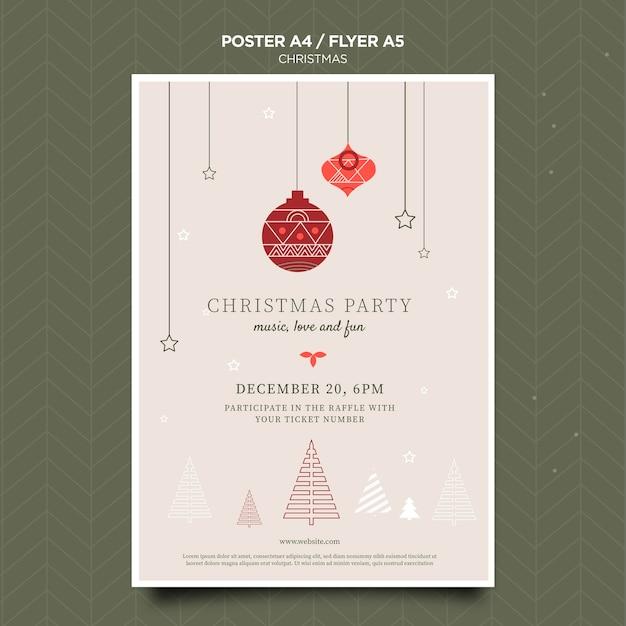 Рождественский концептуальный плакат шаблон Бесплатные Psd