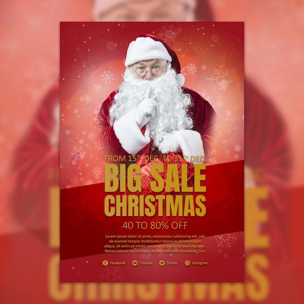 Christmas cover template Premium Psd