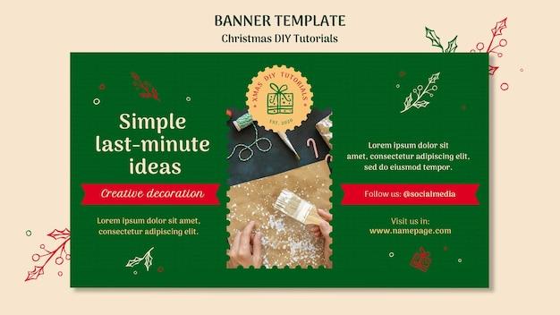 Рождественский учебник diy шаблон баннера Бесплатные Psd