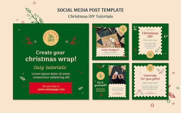 Рождественский учебник поделки в социальных сетях Бесплатные Psd