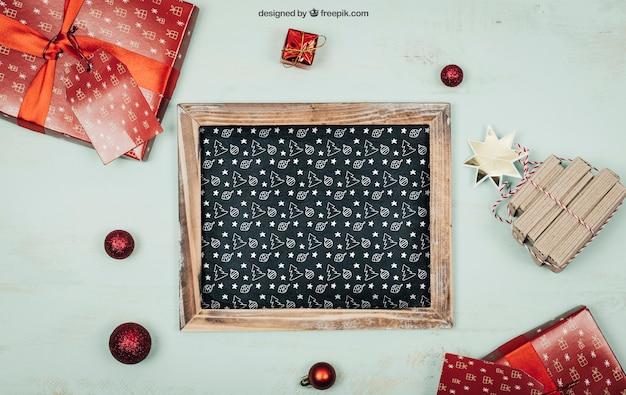 Christmas elements mockup Free Psd